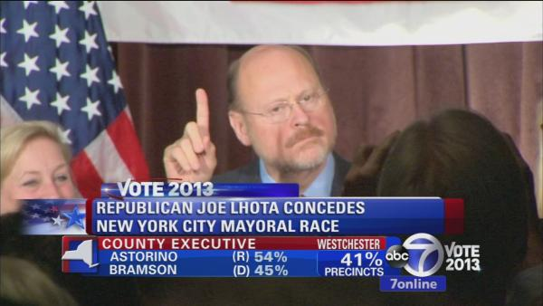Joe Lhota concedes mayor race