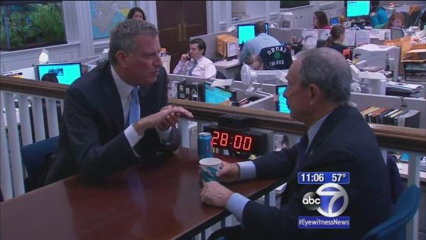 De Blasio meets with Mayor Bloomberg, talks administration