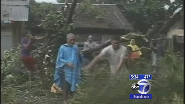 Locals worry for families in Phillipines dealing with Typhoon