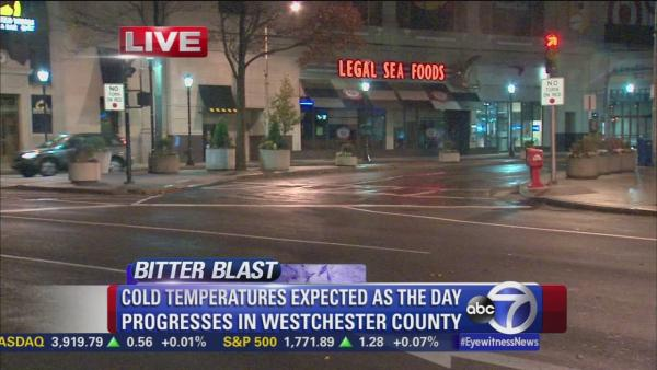 Cold weather descends on White Plains