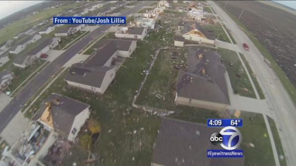 Pictures of damage from deadly torandoes in Midwest