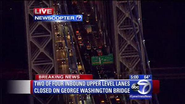 Emergency roadwork on GWB