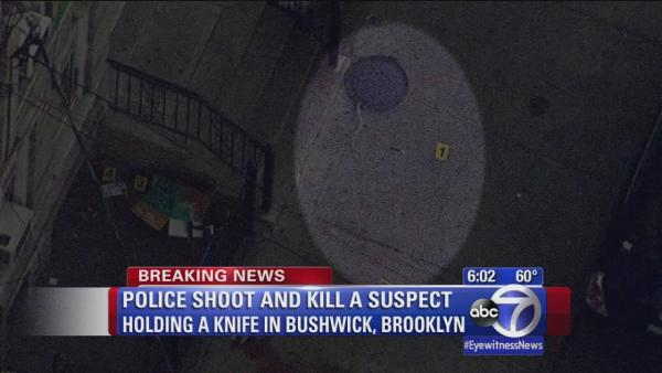 Police shoot and kill knife-wielding suspect in Brooklyn