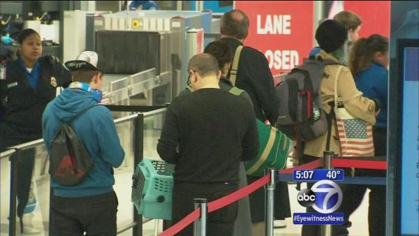 Some holiday air travel delays reported