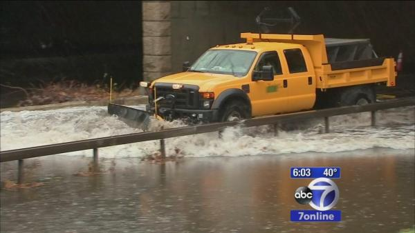 Flooding causes delays on the roadways