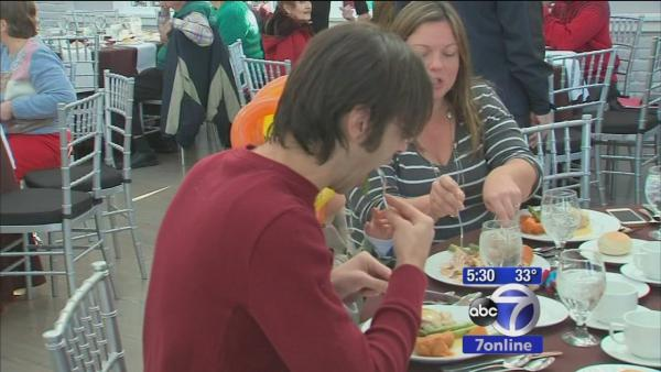 Displaced Sandy families treated to Thanksgiving feast