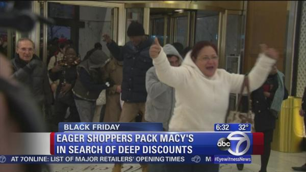 Black Friday shoppers pack Macy's for deals