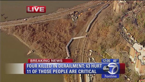 Investigators head to scene of deadly Metro-North derailment