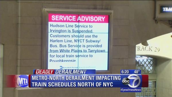 How will the Metro-North derailment impact the Monday commute?