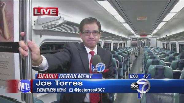 Joe Torres makes third leg of commute following derailment