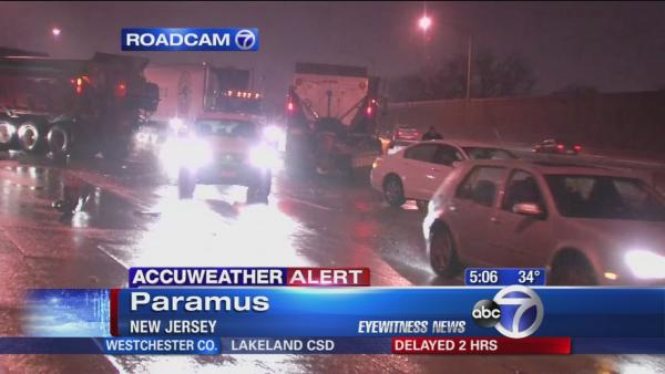Cars and plows collide in accident on Route 80 in New Jersey