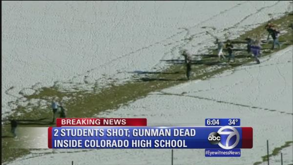 Gunman dead in shooting at Colorado high school