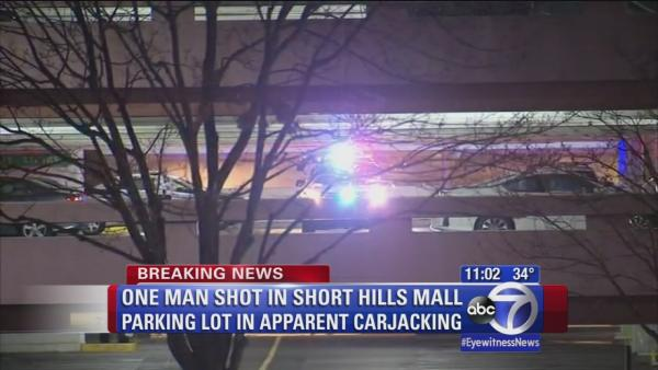 One shot in Short Hills Mall parking lot