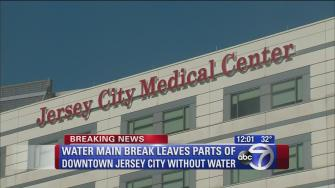 Water outages in parts of downtown Jersey City