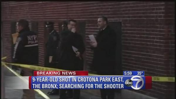 9-year-old boy shot in the foot in the Bronx