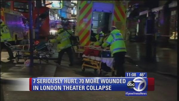 Ceiling collapse in London injures more than 70 people