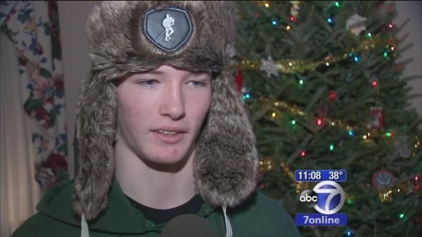 Teen saves friend who fell through ice