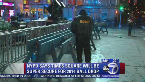 Preparations underway in Times Square to ring in 2014
