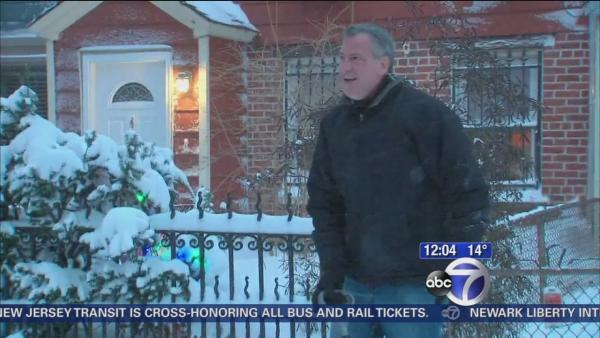 De Blasio pleased with snow storm response