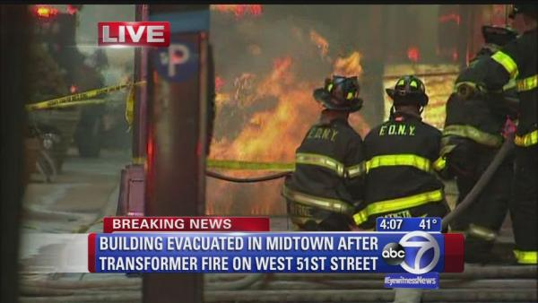 Building evacuated due to midtown fire