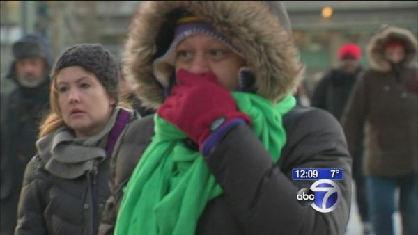 Commuters brave the cold on NYC streets