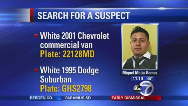 Police search for suspect for stabbing deaths of wife, daughters