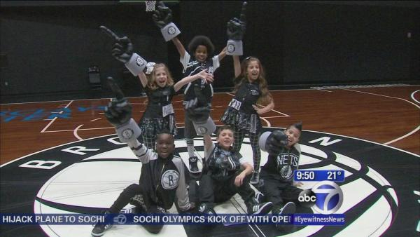 Nets kids dance team putting on a show