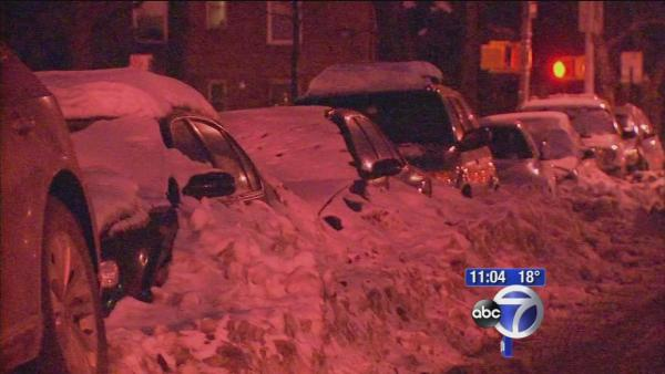 Cars iced in all over New York City