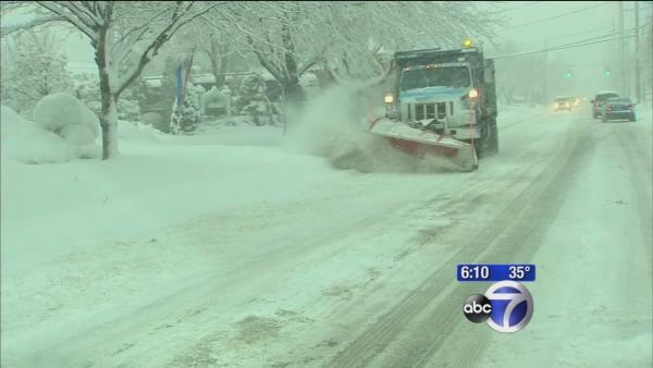 More than a foot of snow in Suffolk County