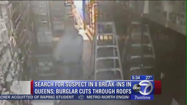 Suspect in Queens break-ins caught on camera