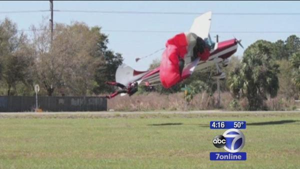 Skydiver and plane collide