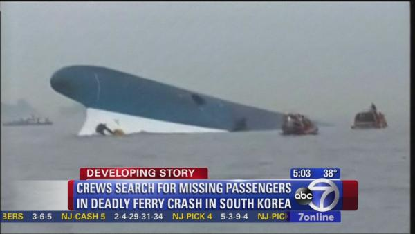 Search continues for hundreds in South Korea ferry disaster