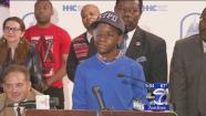 Boy struck in eye by stray bullet released from hospital