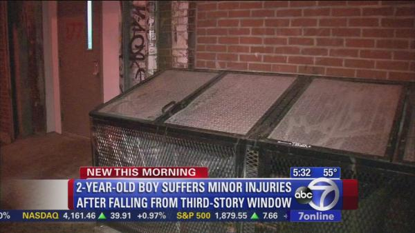 2-year-old boy survives 3-story fall out window