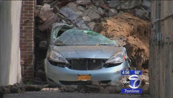 Residents unnerved after wall collapses
