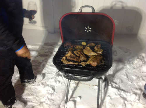 "<div class=""meta ""><span class=""caption-text "">BBQ in the snow! </span></div>"