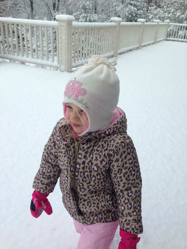 Reese enjoys the snow in Bedford, New York.  <span class=meta>(WABC Photo)</span>