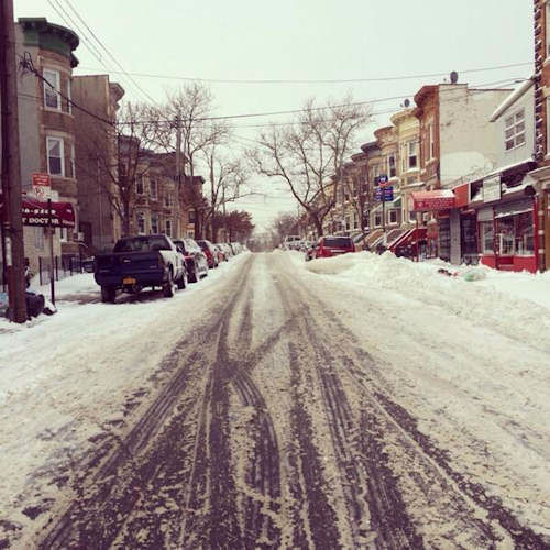 Snow in Ridgewood, Queens.  <span class=meta>(WABC Photo)</span>