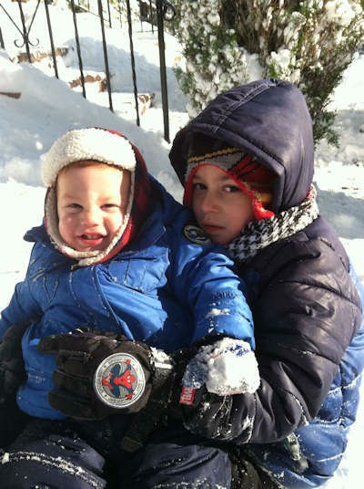 Playing in the snow on Staten Island.  <span class=meta>(WABC Photo)</span>