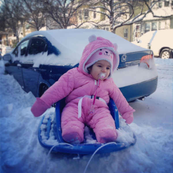 Chloe goes sledding!