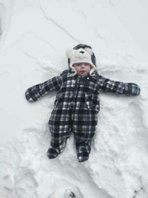"""<div class=""""meta """"><span class=""""caption-text """">Joseph Robert's first Staten Island snowstorm. </span></div>"""