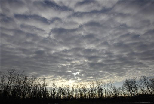 The morning sun breaks through the cloud bank over a leafless landscape in Pepper Pike, Ohio, on Tuesday, Jan. 4, 2011.  Snow was expected to return to the northeast Ohio area in the coming days.  &#40;AP Photo&#47;Amy Sancetta&#41; <span class=meta>(AP Photo&#47; Amy Sancetta)</span>
