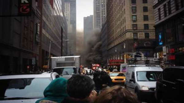Several floors of a building were evacuated after a transformer fire on West 51st Street in Midtown.