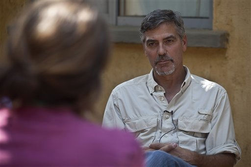 "<div class=""meta image-caption""><div class=""origin-logo origin-image ""><span></span></div><span class=""caption-text"">** CORRECTS THE SPELLING OF CLOONEY  ** American Actor and activist, George Clooney, conducts and interview in the southern Sudanese capital city of Juba Saturday, Jan. 8, 2011. Clooney is visiting southern Sudan in a bid to draw attention to the situation as southern Sudanese prepare to vote in an independence referendum that will determine whether the region secedes from the north to form the world's newest country. Seven days of voting in the referendum is set to commence Sunday morning. (AP Photo/Pete Muller) (AP Photo/ Pete Muller)</span></div>"