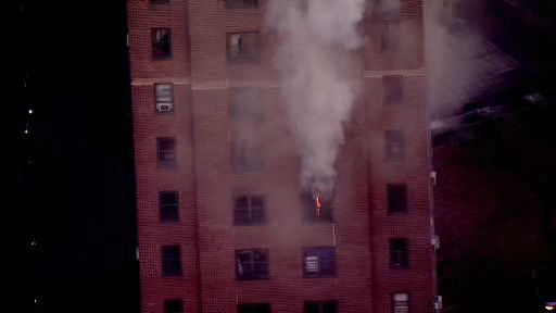 "<div class=""meta image-caption""><div class=""origin-logo origin-image ""><span></span></div><span class=""caption-text"">NewsCopter 7 over a hi-rise fire at a NYC Housing Authority development building on Sutter Avenue in the Brownsville section of Brooklyn.</span></div>"