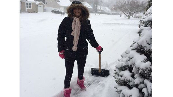 Shoveling the snow in Smithtown, Long Island