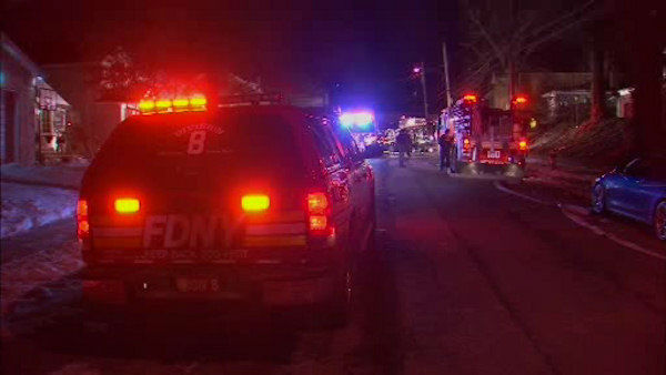 Several homes in Dongan Hills, Staten Island were evacuated after a gas explosion in the basement of a home on Delaware Street. <span class=meta>(WABC Photo&#47; WABC)</span>