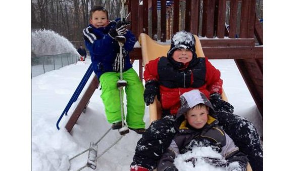 Boys enjoying the day off from school. Newburgh, New York. Photo Credit: Brad Falk