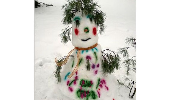 Snowman in North Plainfield, NJ from Haydee