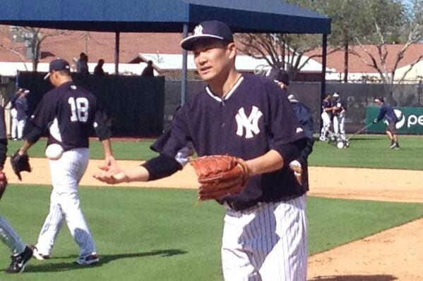 "<div class=""meta ""><span class=""caption-text "">Masahiro Tanaka on the field.  (WABC Photo/ Rob Powers)</span></div>"